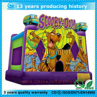 2015 new scooby doo inflatable bouncy castle good price