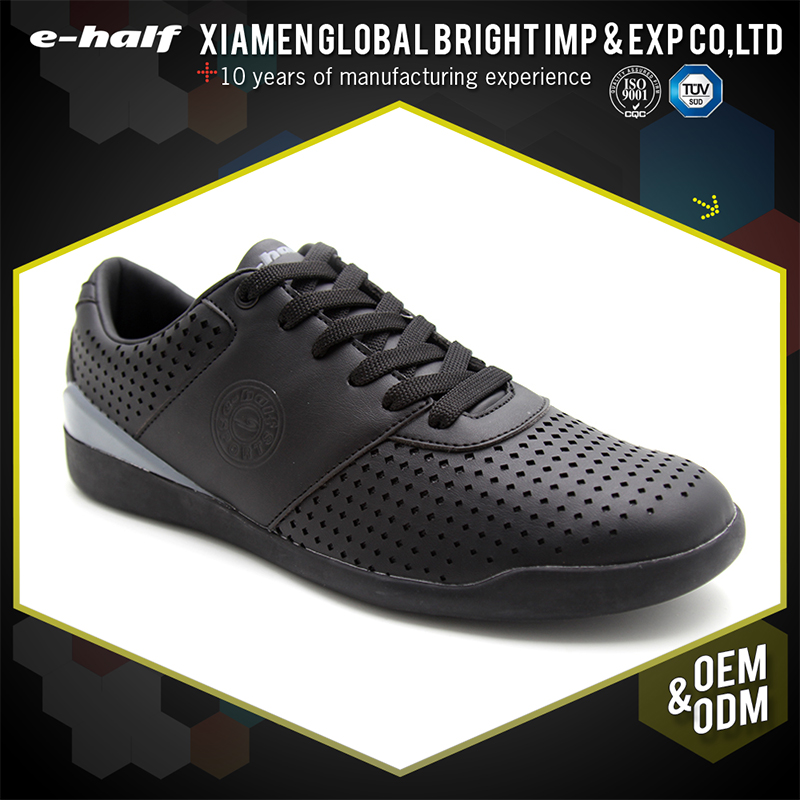 2017 cheap sale rubber sole black fashion shoes men sneakers casual leather