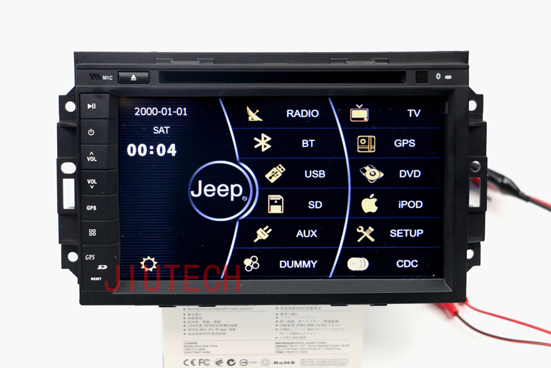 "8"" Car Stereo GPS Navigation for Chrysler 300C Jeep Dodge Sat Nav DVD Player Radio"