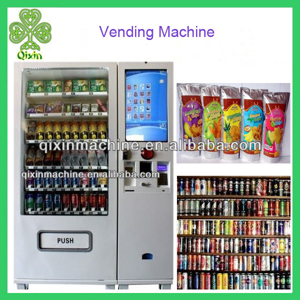 New design multifunction snacks and drinks vending machine for sale