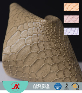 Snake embossed PVC leather fabric for handbag and wallet usage, very fashion and popular sell