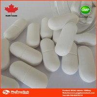 private label health food 1000mg amino acid bcaa tablets in bulk