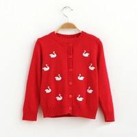 2016 Hot high quality knitted Embroidered logo sweater latest designs for girls long cardigan sweater