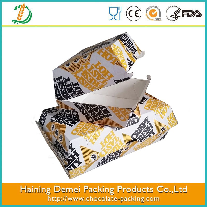 large size food box hamburger box food grade food package box large quantity have in stock