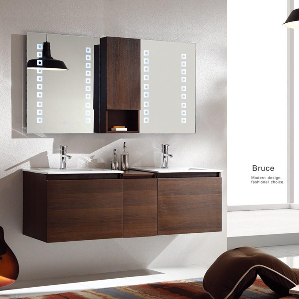 Sliver Double Sink Mirror Basin Custom Mdf Cheap Modern Hotel