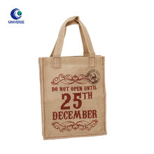 High Quality Custom Printed Wine Tote Jute Bag With Logo For Gift