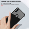 Support Wireless Charge Tempered Glass Armor Plus TPU Mobile Phone Case With Airbag for iPhone X