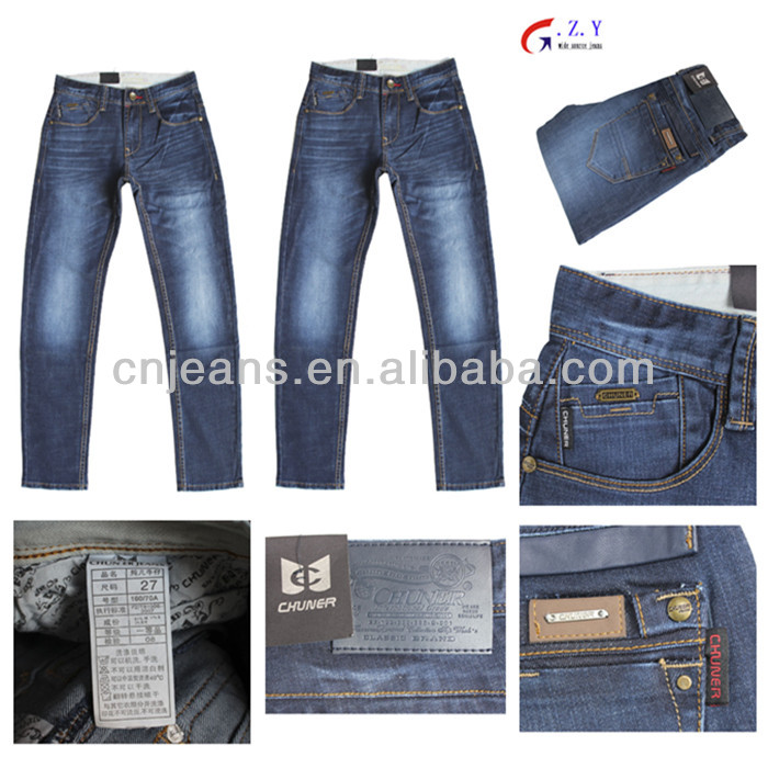 GZY stock man jeans blue CHUNER JEANS ORIGINAL wholesale overstock uk