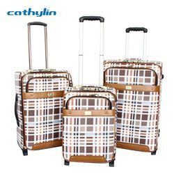 Trolley PU leather luggage case luggage combination padlocks