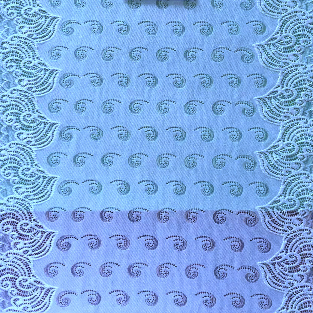 African korean cheap nylon spandex border swiss voile lace