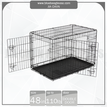 "48"" Pet Products 2 Doors Portable Dog Cage"
