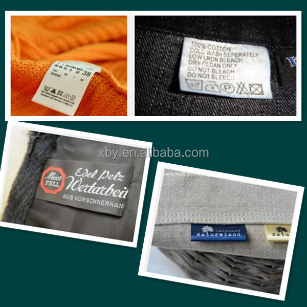 fashion and high quality pocket woven label
