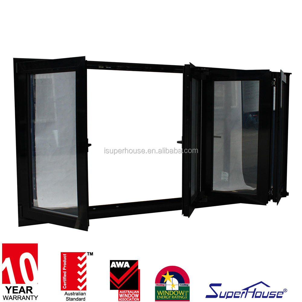 American standard China quality supplier aluminium frame glazed folding balcony window