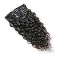 Wholesale Brazilian human virgin hair water wave natural color clip in brazilian hair extensions