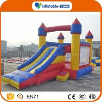Customized crocodile inflatable slide for kids 15' yellow & red inflatable slide