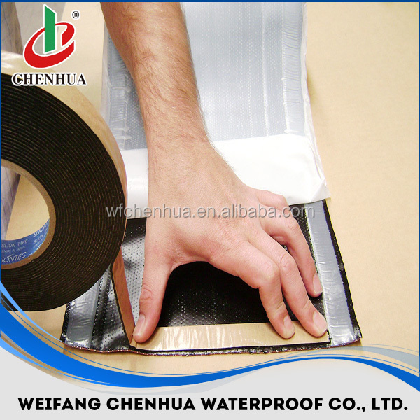 Self adhesive waterproof bitumen tape, asphalt tape, flashing tape - China Factory direct sales