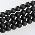 8mm Lava bead Natural black lava Stone Loose beads made jewelry