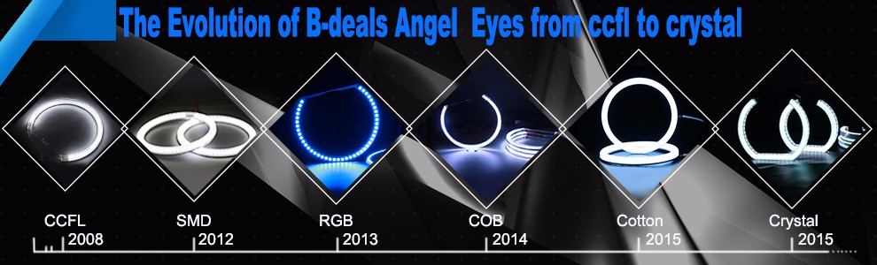CE E-mark led dtm style angel eyes lighting for bmw E36 E38 E39 E46
