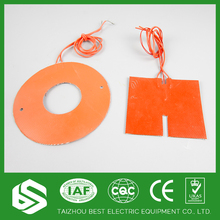 customized fan/ring/circle silicone rubber heater 3M glue solar heating pad sealing element