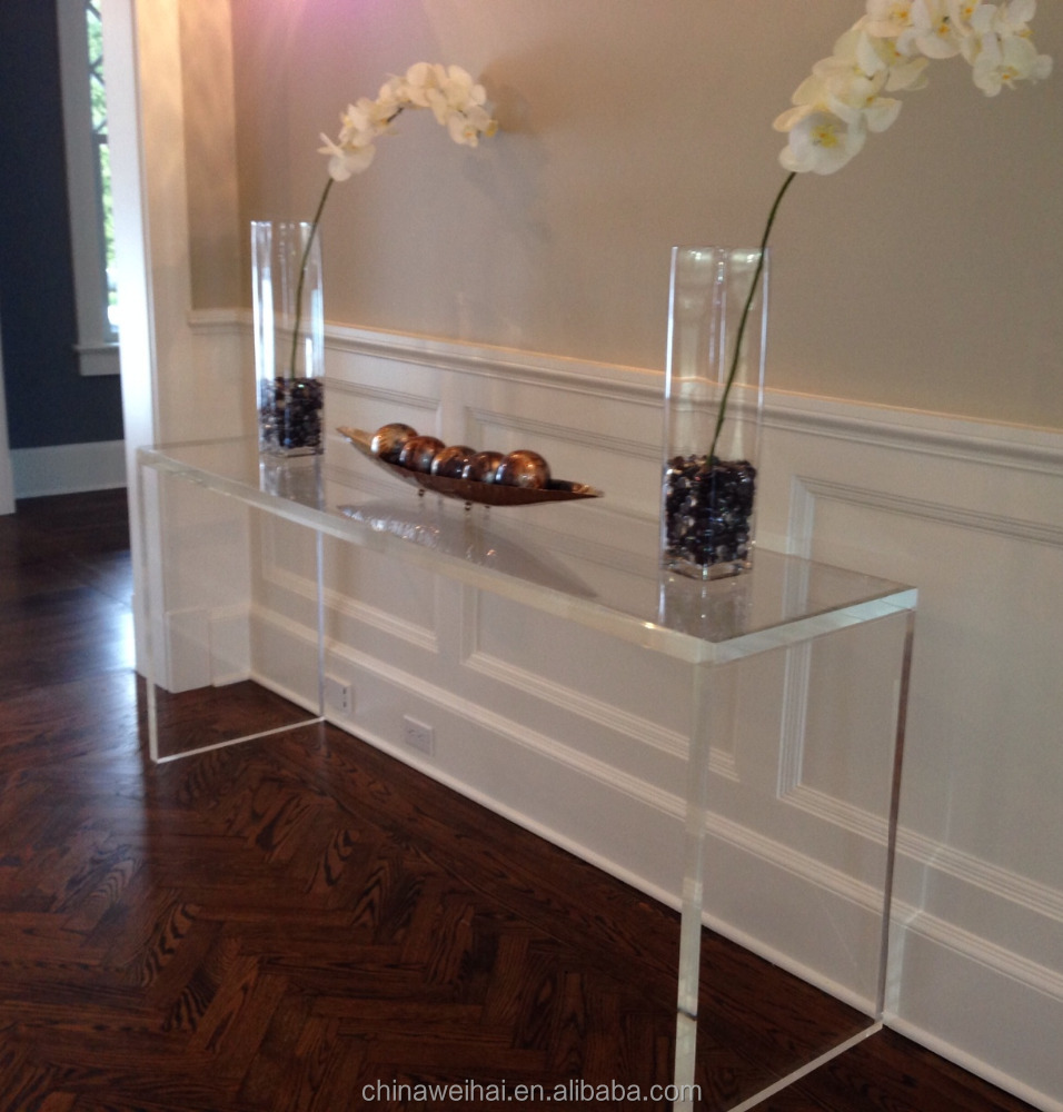 lucite Acrylic Console Table