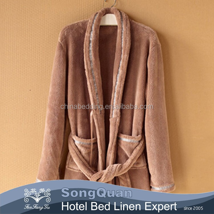 100% Cotton wholesale hotel terry cloth bathrobe for men and women