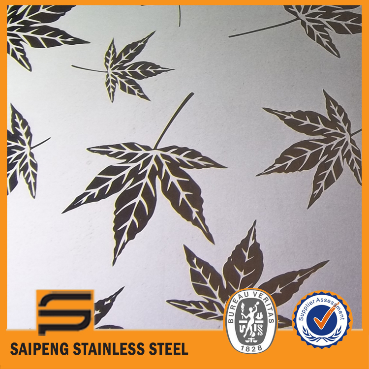 stainless steel coil 201 holes water cutting notchs acid etched anti-finger print coating