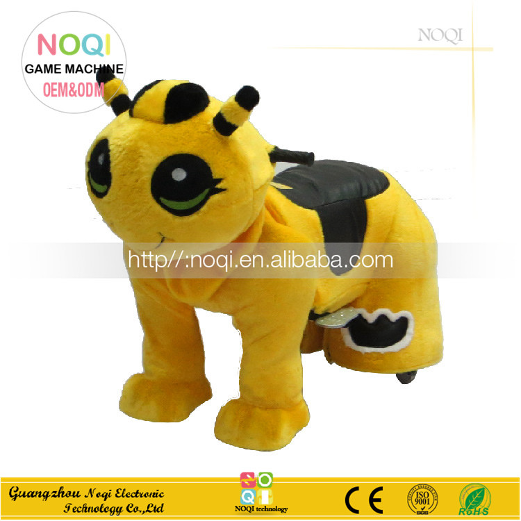 Hot sale animal kiddie ride coin operated children ride on toy stitch small stuffed plush animal kiddie rides