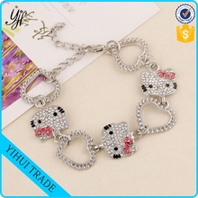 wholesale lovely hello kitty shape bracelet for kids