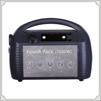 1300W UPS uninterruptible power supply/portable power supply with AC DC output for electric equipment/solar system