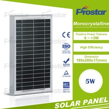 Small mono CrystallSilicon Photo Voltaic Solar Cells 5w mono mini solar modules