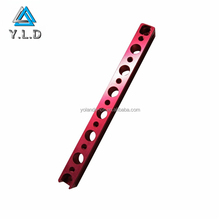OEM ODM Custom CNC Machining Red Anodized Aluminum Ceiling Hanging Lamp Support