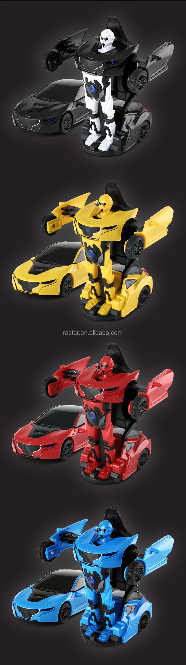RASTAR alloy die cast rs 1:32 transformable electric robot car toy