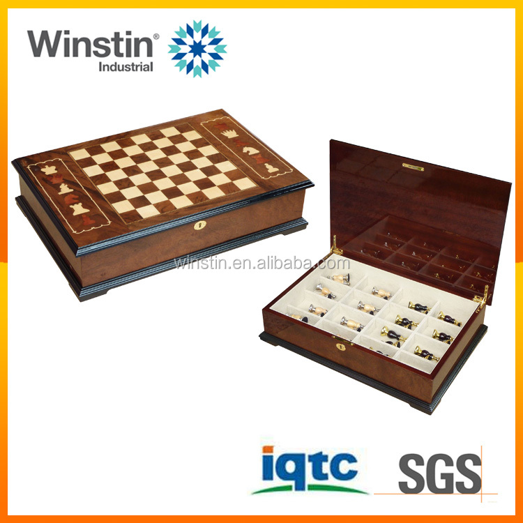2016 Winstin High quality adult new design wooden chess games
