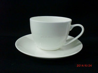 Hot Sale Bone China Coffee Cup &Saucer Set, White Ceramic Coffee Cup&Saucer