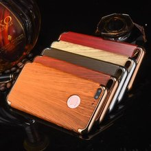 For Iphone 7 Wood Grain Phone cover 3 in 1 Removable Hard Plastic cover for iPhone 7 plus