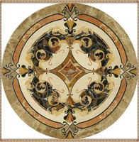 Hotel Project Waterjet Cut Round Custom Designed Marble Medallion Mosaic Tiles/Marble Medallion,Marble inlay flooring