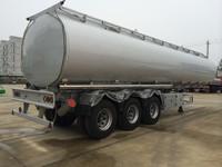 Hubei Qixing 40cbm Light weight Tri axle aluminum fuel tank trailer for sale