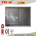 aluminum sliding window with 12mm,15mm,19mm thickness single low-e glass