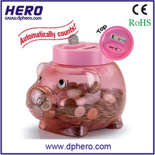 Coin saving unbreakable piggy bank