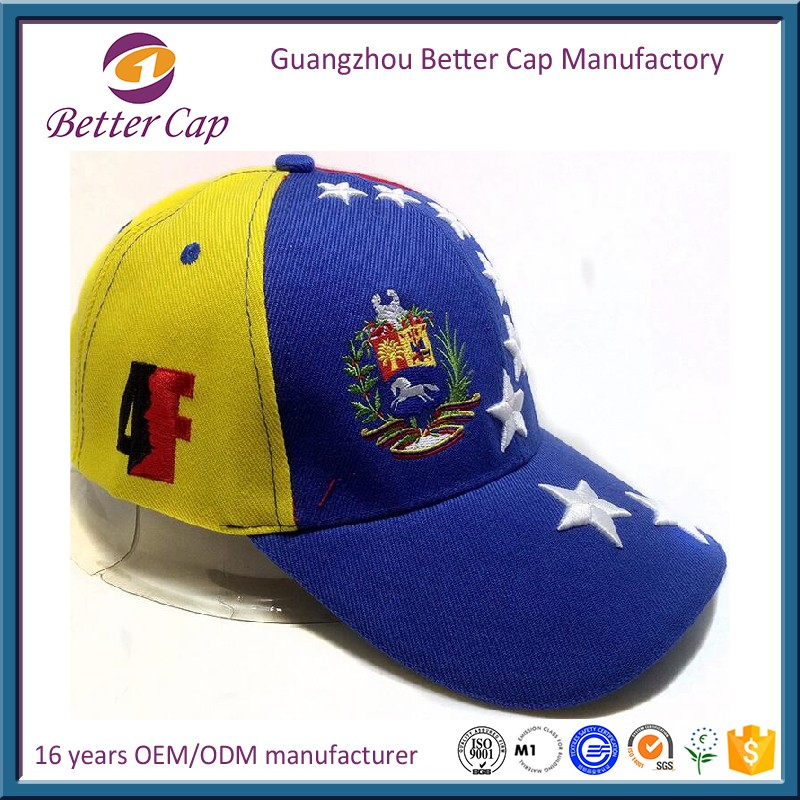 Guangzhou factory high quality 6 panel Venezuela campaign hat