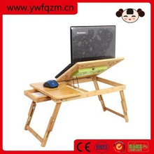 bamboo adjustable portable computer desk folding table