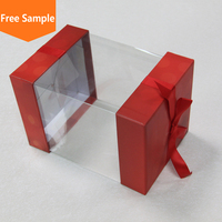 Luxury Clear Plastic Window Candy Chocolate Boxes with Ribbon