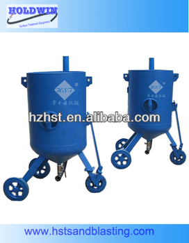Portable sandblasting machine