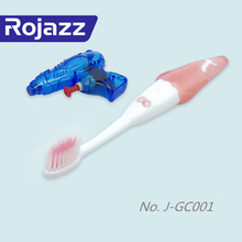 Cute cartoon soft rubber and bristle non-slip popular baby toothbrush