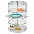 4Sections Multifunctional Acrylic Swivel Organizer
