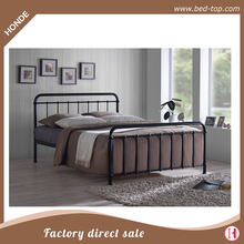 Home Use Cheap Metal Frame Steel Single Double Queen King Bed Frame Y