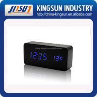 New digital clock with temperature desktop for decoration, wood desktop clock, led table clock with thermometer