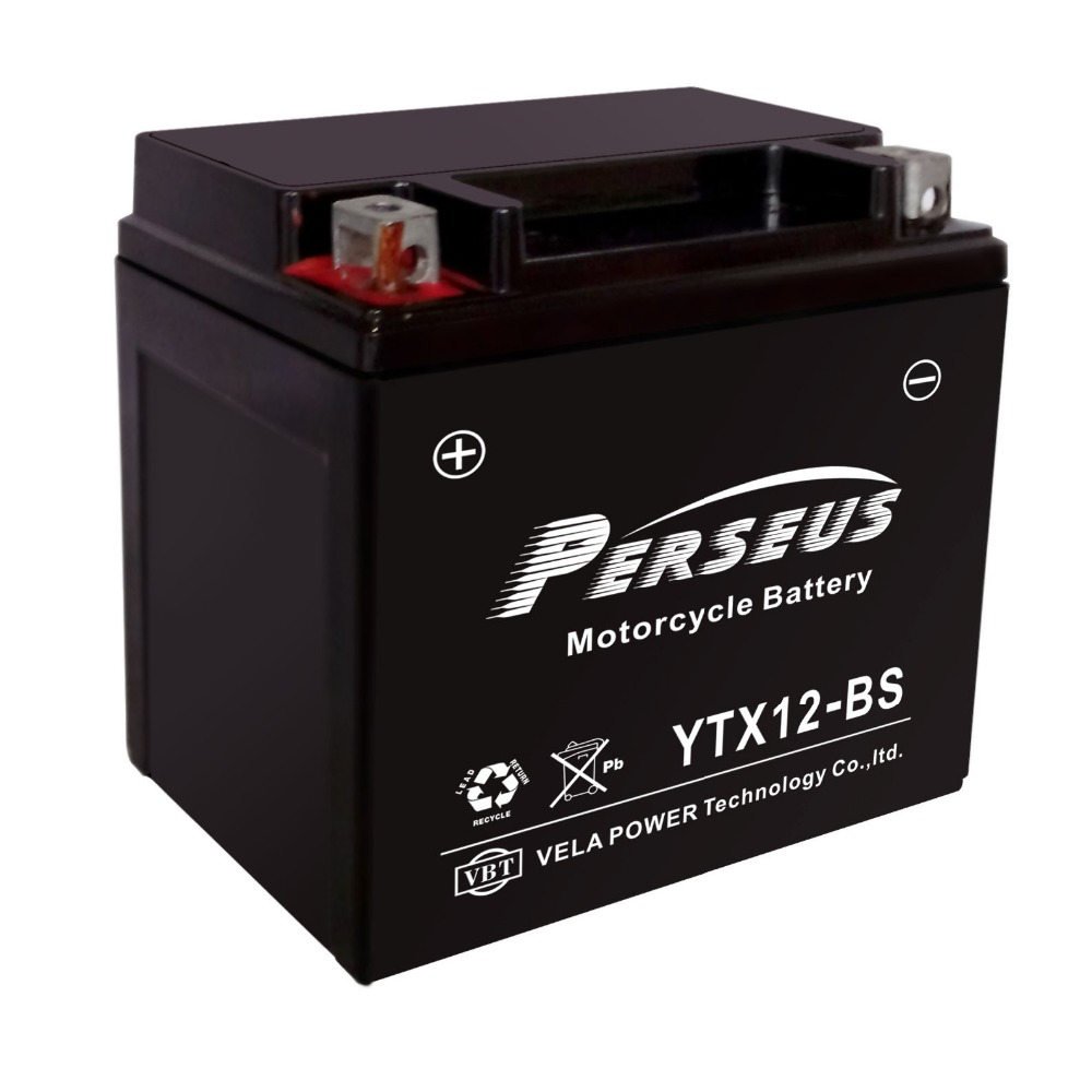 maintenance free motorcycle battery YTX12-BS PERSEUS