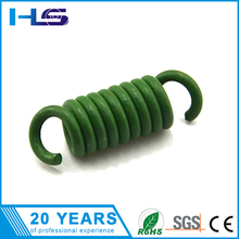 Green heavy duty steel coil extension spring