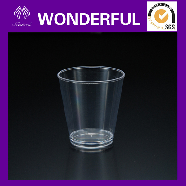 SC-08 clear disposable plastic shot glasses